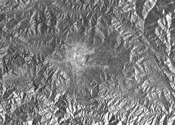Kathmandu, Nepal Sentinel-1A SAR image