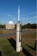 A DORIS antenna at the GGAO. Image courtesy: NASA GGAO.