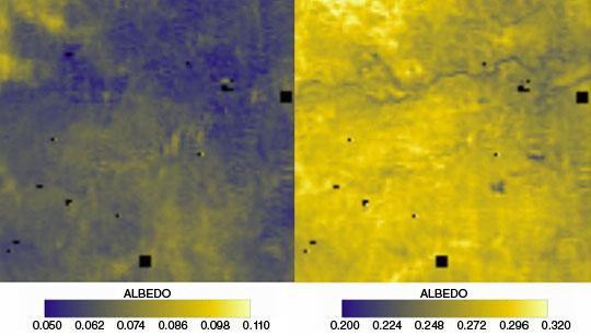 Data image showing surface reflectance over Kruger National Park, South Africa
