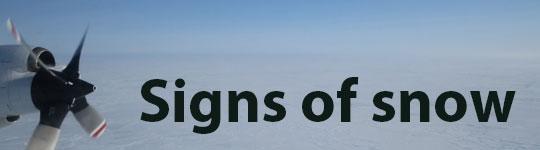 Signs of snow - SOP 2013