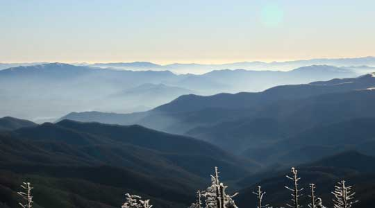 Photograph of the Great Smoky Mountains in the southeastern United States.