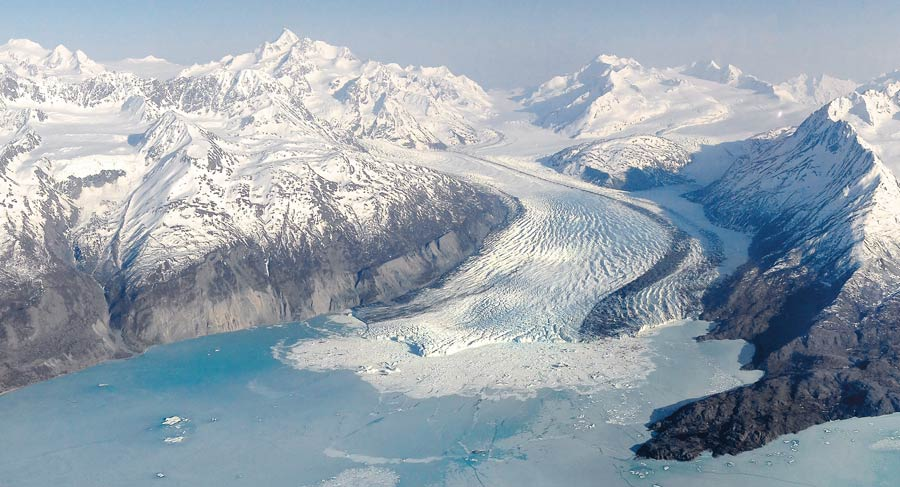 Photograph of Colony Glacier, Alaska
