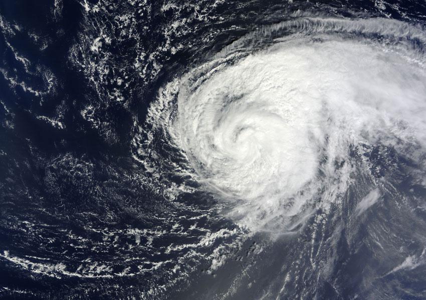 Satellite image of Hurricane Nadine