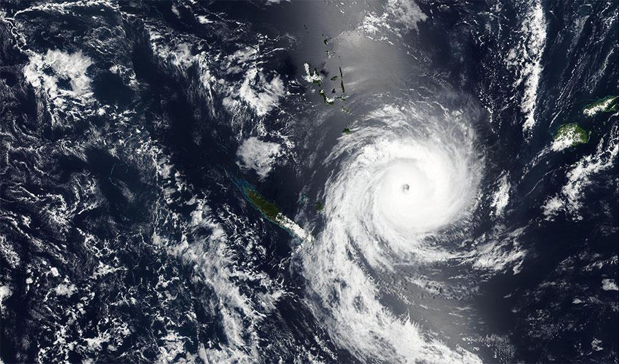Tropical Cyclone Ula 10 January 2016 VIIRS large