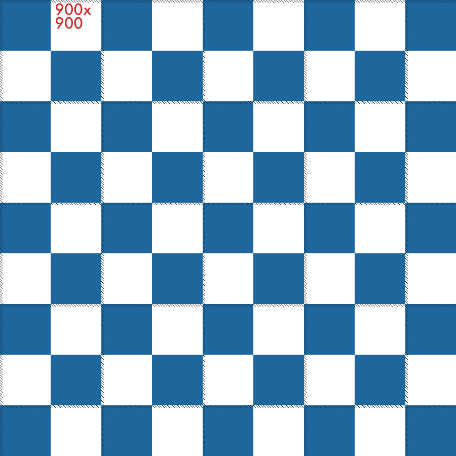 900 pixel x 900 pixel square