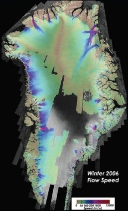 Ice Velocity derived from IceBridge and other data (MEaSUREs Program, I. Joughin)